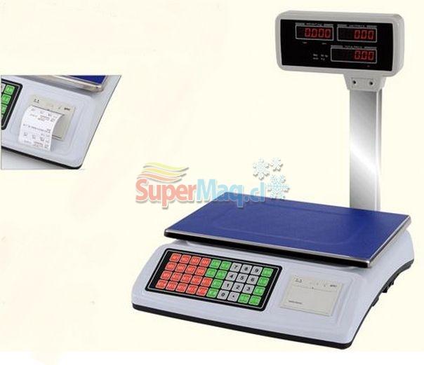 Balanza digital de 50 kg con impresión de Ticket