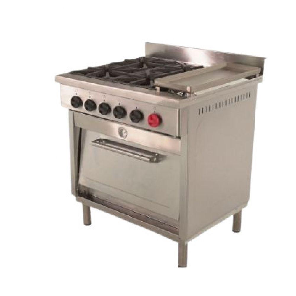 Cocina 4 platos un horno con plancha maigas cocinas - Cocina con plancha ...