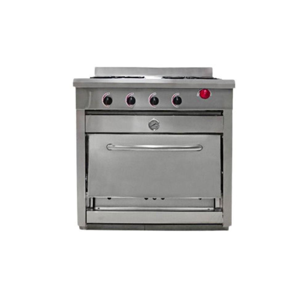Cocina 4 Quemadores con Horno 58x65 Supermaq
