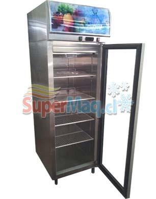 Congelador Vertical de Acero Inox 400 Lt