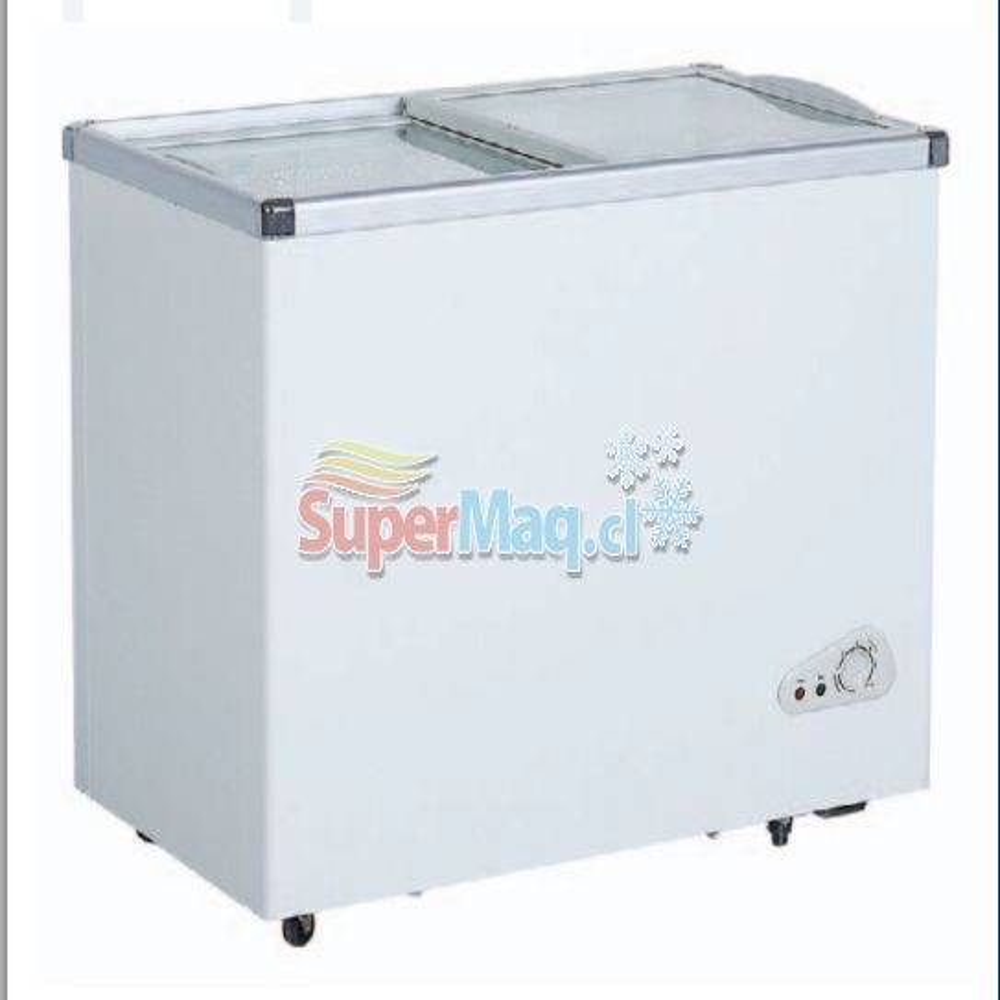 Congeladora 250 Litros Tapa de Vidrio SD250