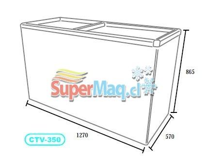 Congeladora 350 Litros Tapa de Vidrio SD350