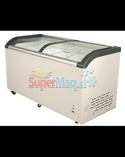 Congeladora 520 Litros Vidrio Curvo