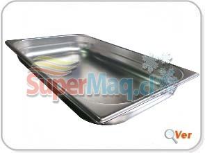 Deposito Gastronomico de Acero 32,5x53x6 un Entero x 6.5