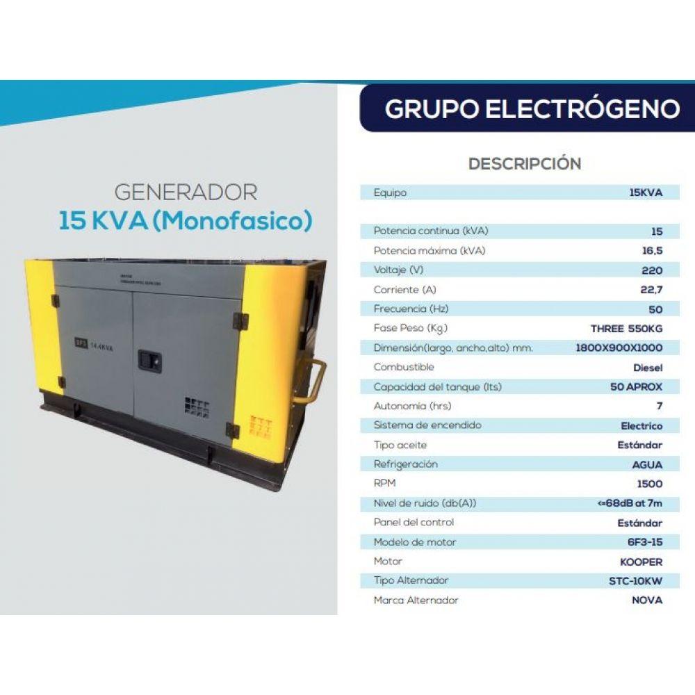 Generador 15 Kva Diesel KOOPER