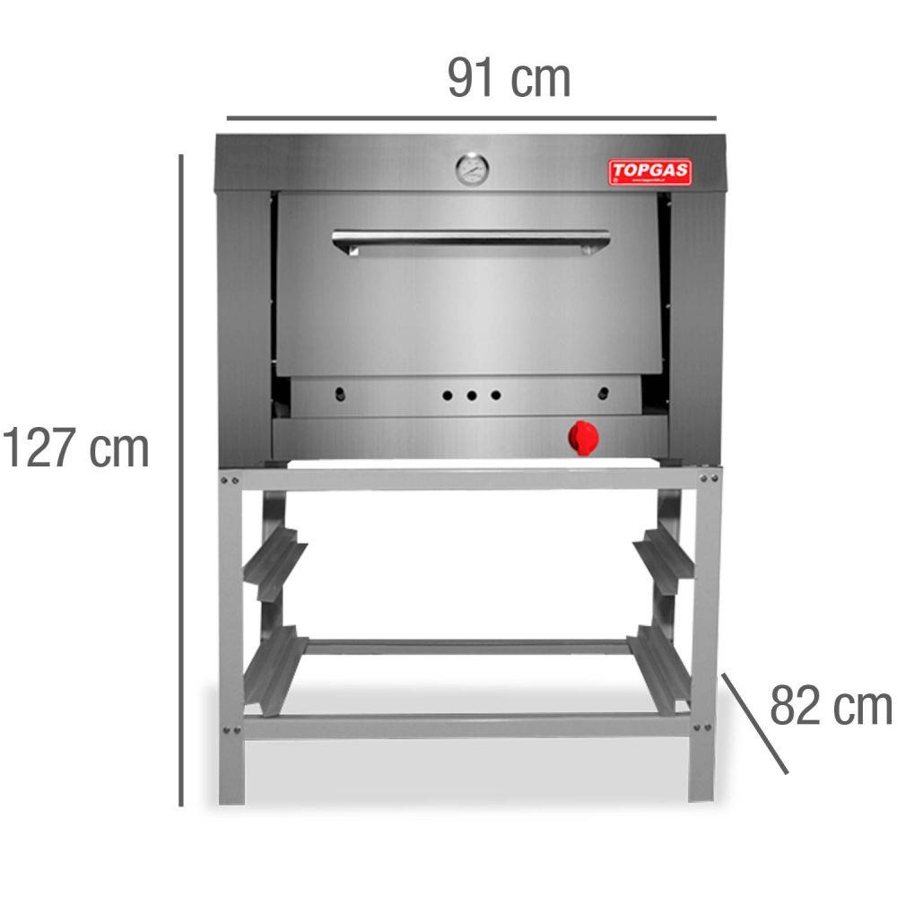 Horno a Gas Industrial 1 Camara 65x65