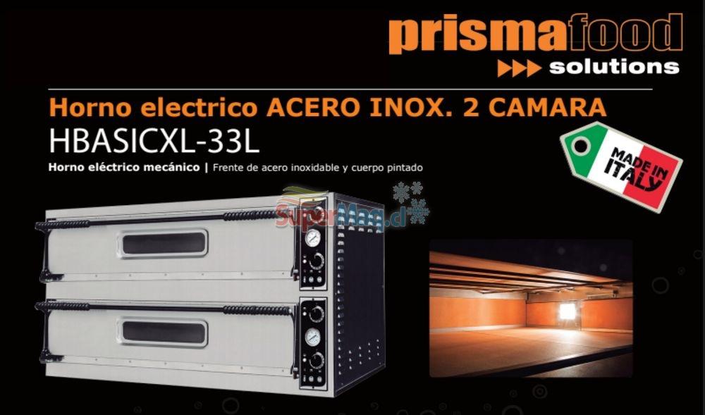 Horno Pizzero Electrico 2 Camara Prisma Food