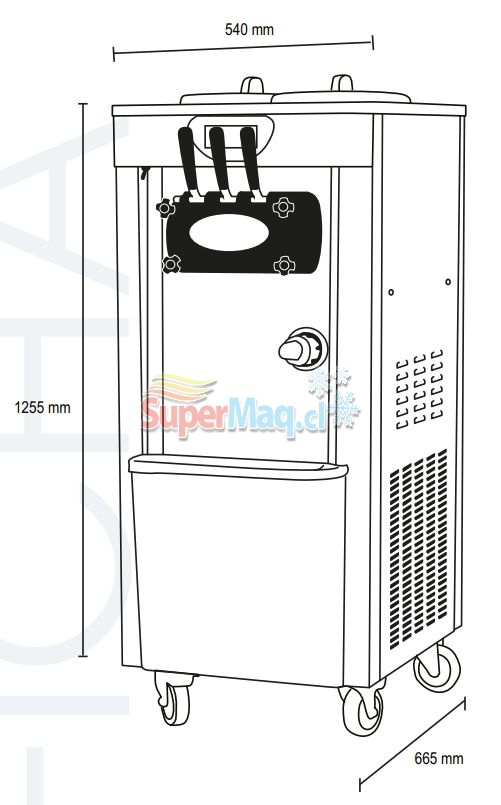 Maquina de Helados Soft VENTUS VSP-30 PRO