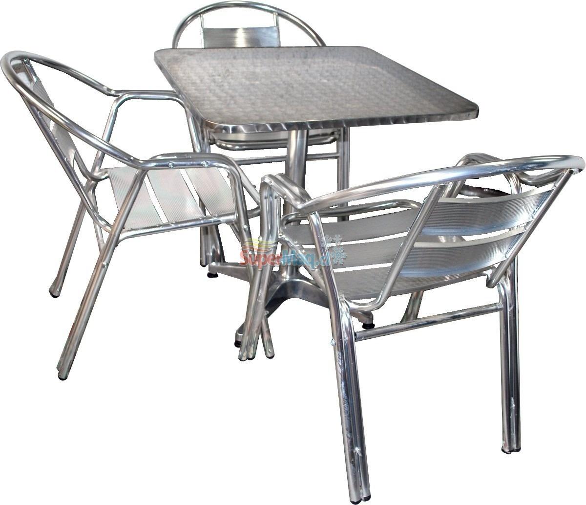 mesa de aluminio 60x60 mesas