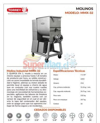 Mezcladora y moledor de Carne MMX32 TORREY