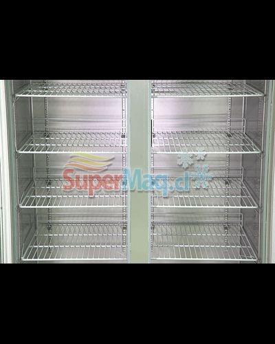 Refrigerador Acero 2 Puertas de Vidrio 1000 Litros