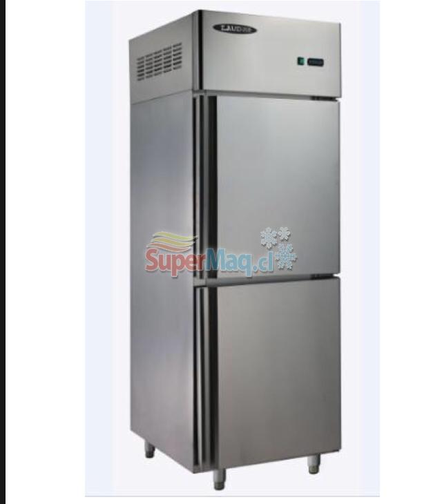 Refrigerador Congelado 2 medias Puertas Acero Inox. 400 Litros