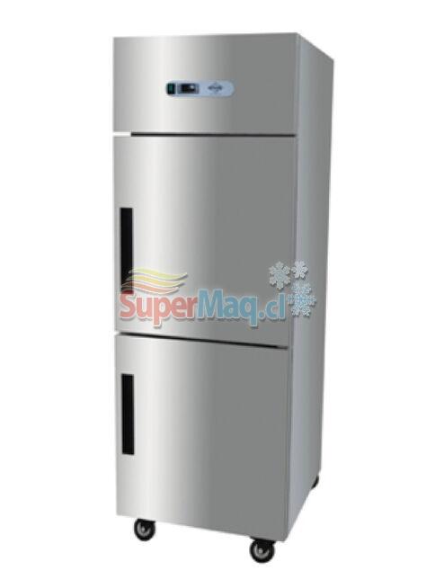 Refrigerador Congelado 2 medias Puertas Acero Inox. 500 Litros