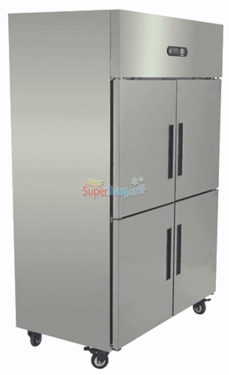 Refrigerador Congelado 4 Puertas Acero Inox. 1000 Litros