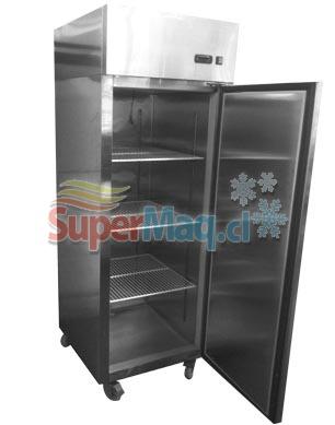 Refrigerador de Acero Inox 400 Litros Dual