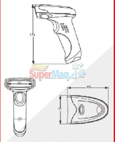 Scanner Pistola ON 1D 7400